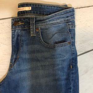 Levi's Blue Jeans- 518 straight size 7